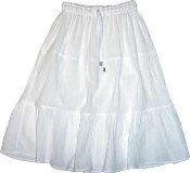 Ladies Knee Length Tiered Skirt