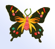 Black and Pink Butterfly Patch