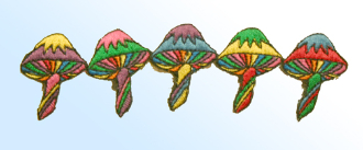 Colorful Mushrooms Patch