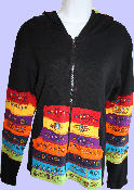 Rainbow Patch Hoodie with Black