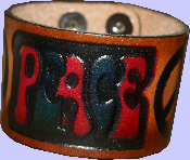Thick Leather Cuff Peace