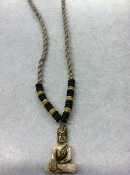 Buddhaful hemp/bone necklace