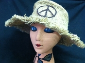 Hemp Hippie Peace Hat