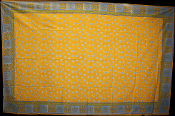 Yellow with Blue Dots Tapestry-Single