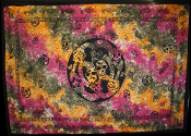 Tie Dyed Skulls Tapestry-Single