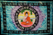 Tie Dyed Buddha Tapestry-Single