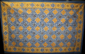 Blue with Yellow Squares Tapestry-Single