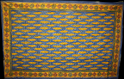 Blue with Yellow Leaves Tapestry-Single