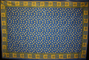 Blue with Yellow Dots Tapestry-Single