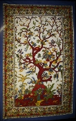 Red Trunk Tree of Life Tapestry-Single