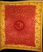 Red Yellow OM Tapestry- Queen