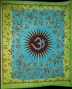 Blue Green OM Tapestry- Queen