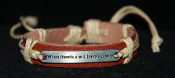 'When there's a will, there's a Way' Leather Bracelet