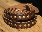 Leather Buckle Wrap Bracelet- Brown