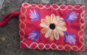 Embroidered Coin Pouch
