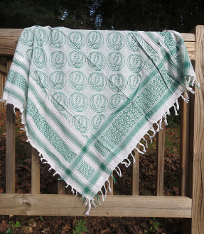 Green Steal Your Face Scarf