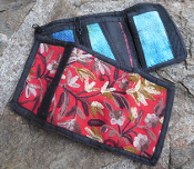 Embroidered Wallet- Red