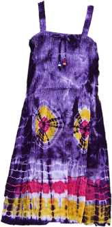 Kid's Elastic Tie Dyed Dress