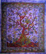 Tree of Life Tapestry Purple-Queen