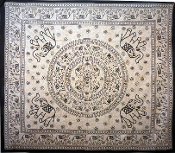Black and White Elephant Tapestry-Queen