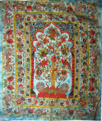 Bird Of Paradise Temple Tapestry Turquoise-Queen