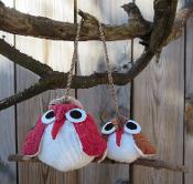 Owl Couple Ornaments