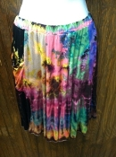 Indo Blue Gecko Tye Dye Panel Skirt