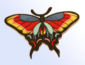 Red and Yellow Butterfly Patch