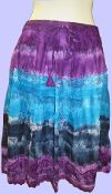 Short Tie Dyed Tiered Skirt