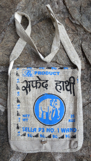 Rice Bag Elephant Hemp Satchel