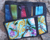 Embroidered Wallet- Turquoise