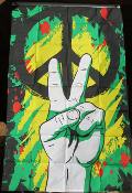 Peace Sign/Hand Flag