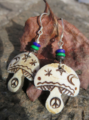 Bone Mushroom Earrings