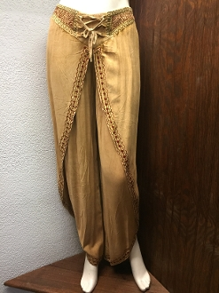 Gold Faux Wrap Pants