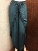 Teal Faux Wrap Pants