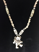 Hemp Dancing Bear Necklace