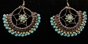 Woven Beaded Earrings